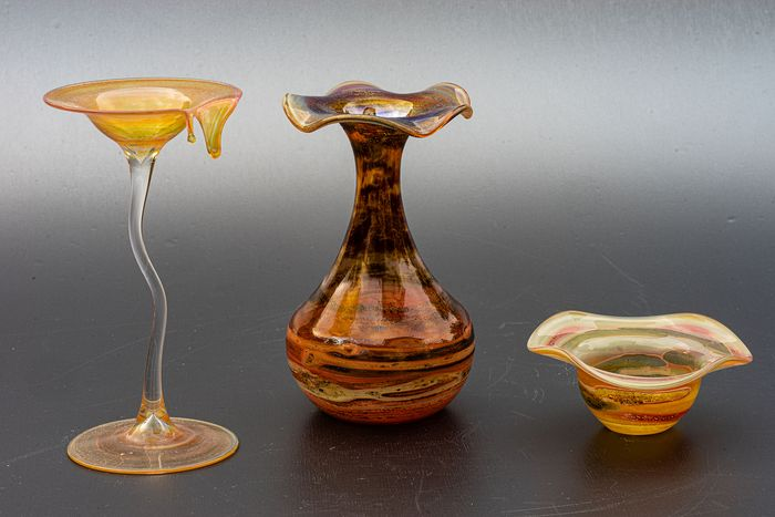 Glasbläserei Karl Schmid, Lindberg - Three Decorative Glass Objects - Glass