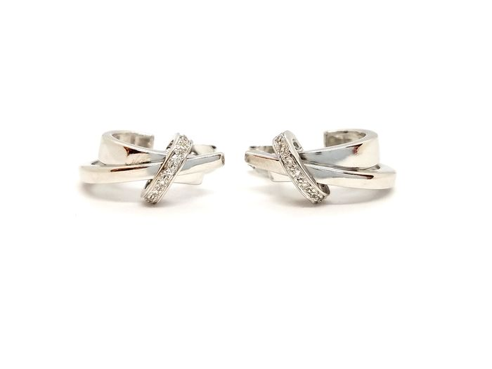 18 kts. White gold - Earrings Diamond