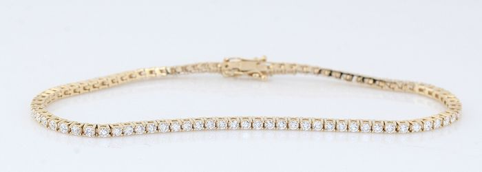 14 carats Or jaune - Bracelet - 2.00 ct Diamant