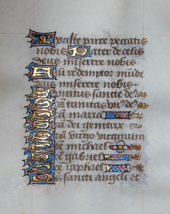 Manuscript - Original page from a book of hours - 1463