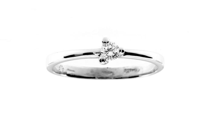 Comete - 18 kt white gold - Ring - 0.10 ct diamond