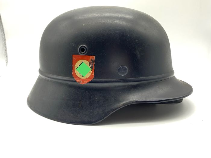 Germany - Police Corps - Steel Helmet M40 Police Division with badge! NS66