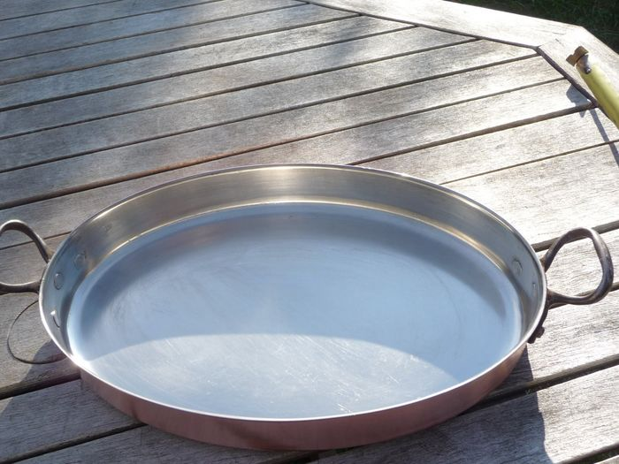 large oval fish pan 1031 g - Copper