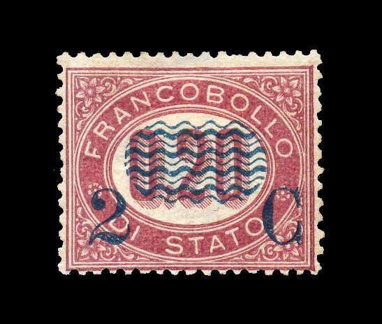 Italy Kingdom 1878 - Service stamp - 2c. on 0.20 - Sassone N. 31