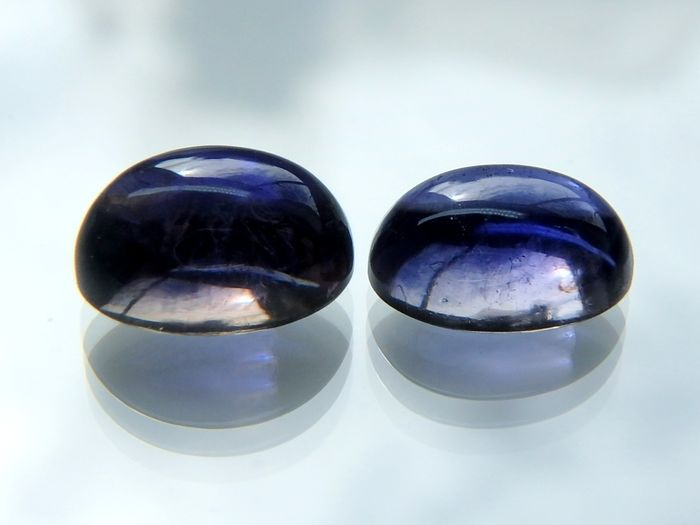 2 pcs Bluish Green Iolite - No reserve  - 2.69 ct