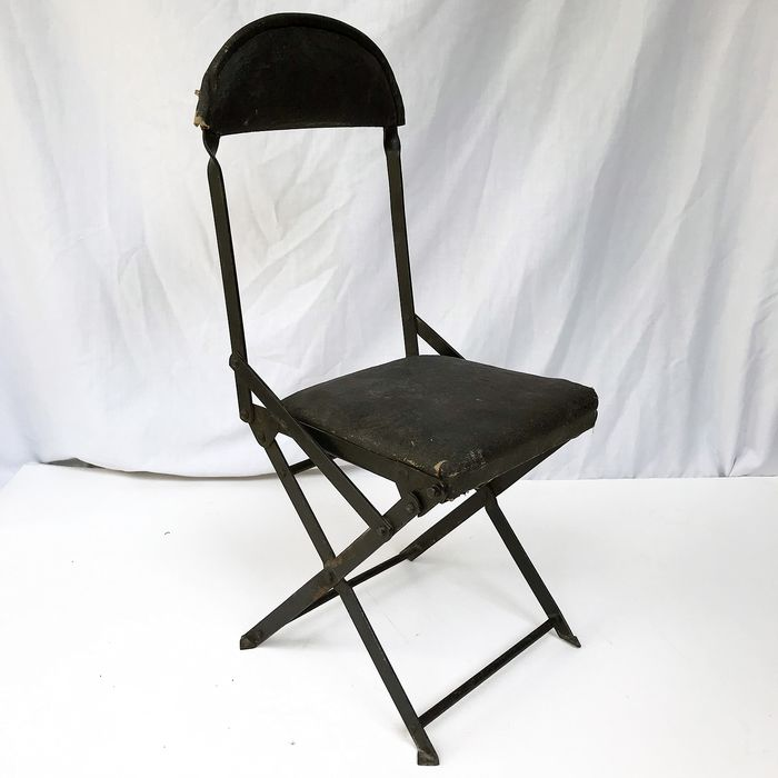 Brilliant Strap Auto Systeme Truffy S G D G Antique Metal Folding Chair For Old Timer Leather Wrought Iron Catawiki Cjindustries Chair Design For Home Cjindustriesco