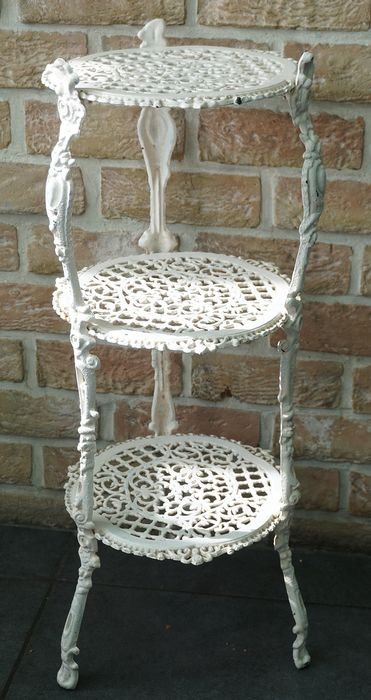 Wrought iron three-storey plant table (1) - Iron (cast/forged)
