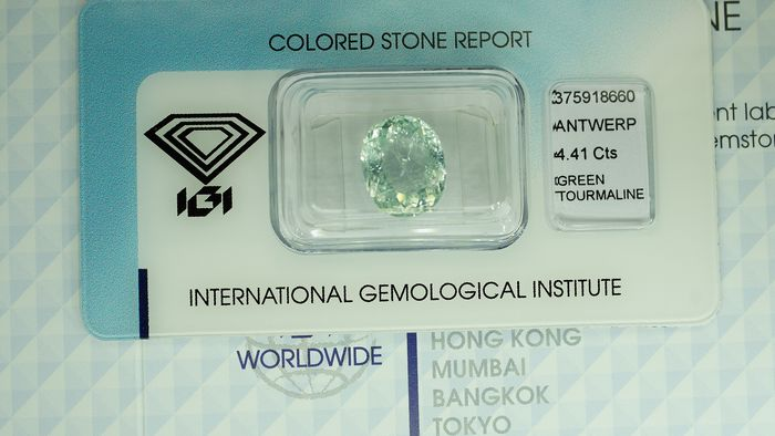 Green Tourmaline - 4.41 ct