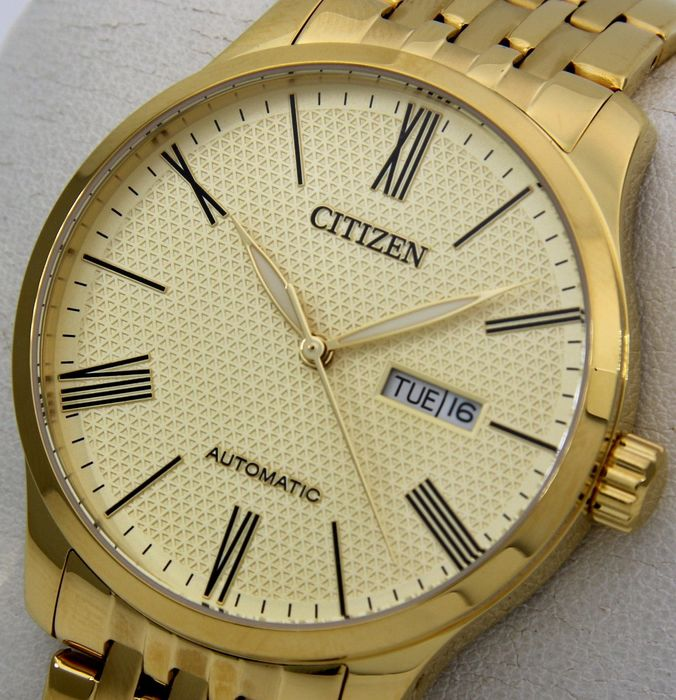 "Citizen - Automatic Day/Date ""All Gold"" - - ""NO RESERVE PRICE"" - - Heren - 2019"