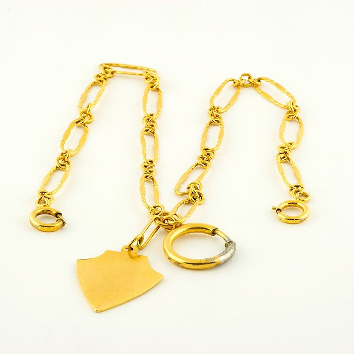 14 kt. Yellow gold - Leontina - Chain terminal for pocket watch