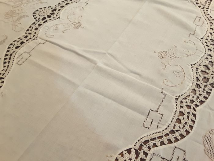 tablecloth and napkins (13) - linen muslin
