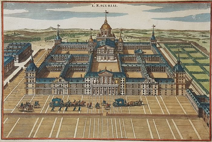Spain, Madrid, Escorial; N de Fer - L'Escurial - 1705