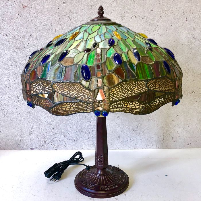 Large table lamp - Glass (stained glass)