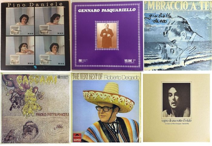 Pino Daniele, Gennaro Pasquariello, Giulietta Sacco and others - Multiple artists - Multiple titles - LP's - 1970/1981