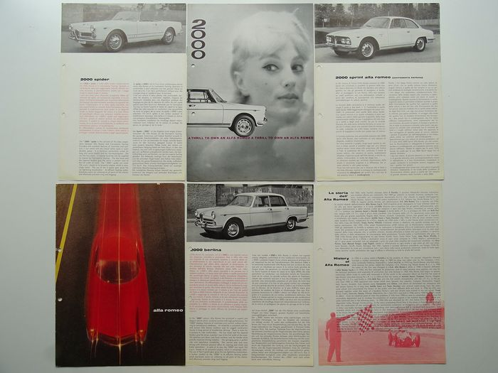 Brochures / catalogues - ALFA ROMEO - 2000 Berlina, Spider & Sprint - 1960