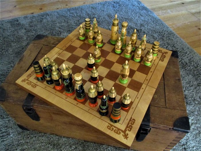 Large limited Russian chess game USSR - Wood and metal
