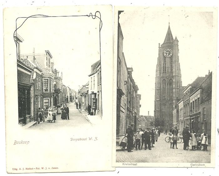 Postcards Villages and Cities South Holland (86x) (Collection) - 1900-1935