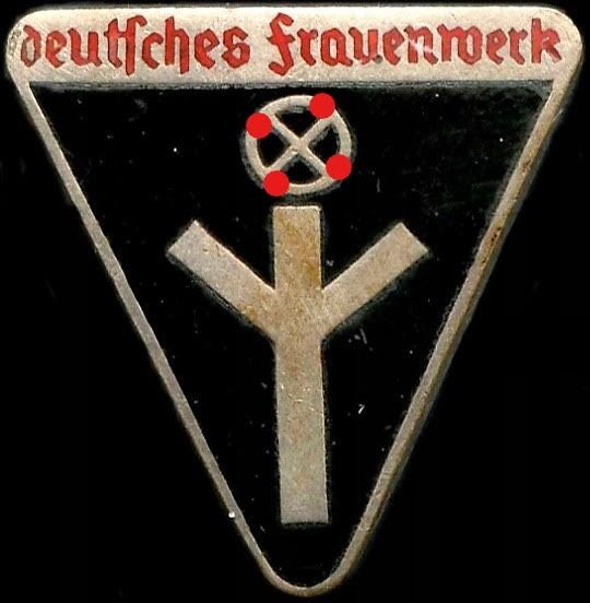 Germany - Army/Infantry - Award, Badge,  WW2-3 Reich.  Badge of the Wehrmacht Organization of the Third Reich German Women - 1939