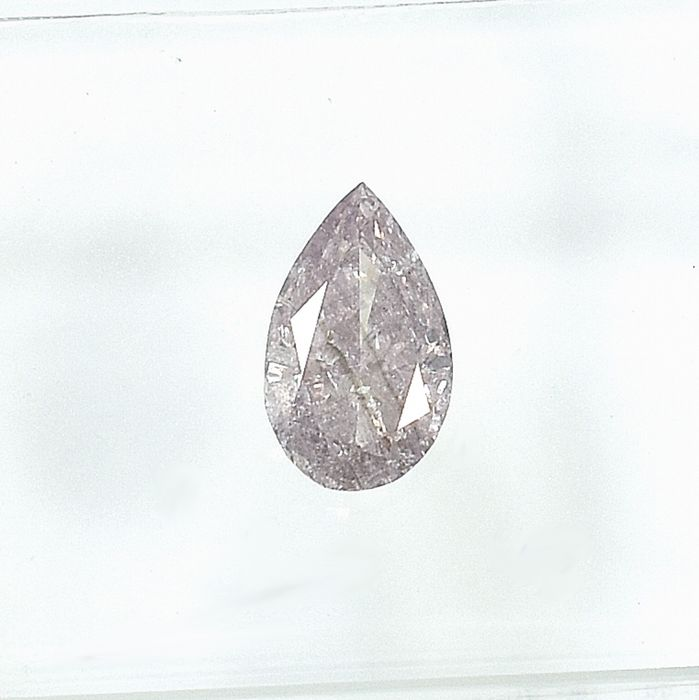 Diamond - 0.52 ct - Pear - Natural Fancy Pink - I1 - NO RESERVE PRICE