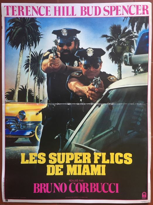 Terence Hill, Bud Spencer - Original French cinema poster - 40x56cm Miami supercops