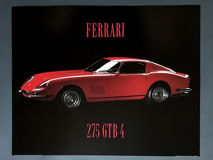 Poster - Scandecor W Germany - Photographed by Rainer W. Schlegelmilch; Ferrari 275 GTB4 - 1989-1989