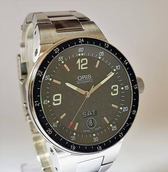 Oris - NO RESERVE Williams Formula 1 Day Date Automatic - 7595 - Heren - 2011-heden