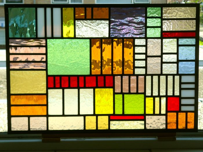 Window hanger - Abstract - Stained glass