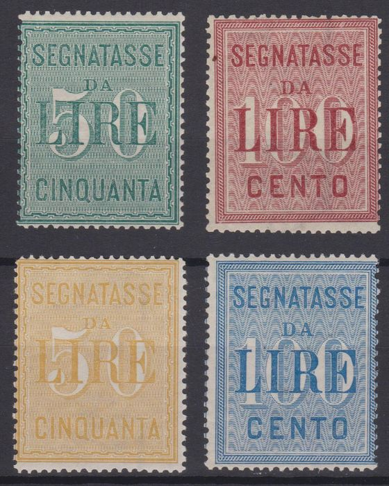 Italy Kingdom 1884/1903 - Postage due, two sets - Sassone NN. 15/16-31/32