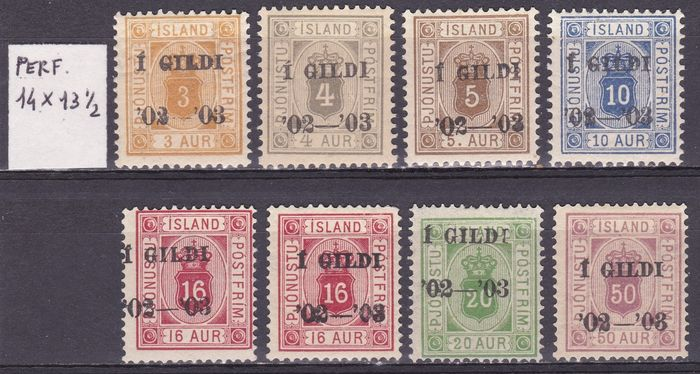 Islândia 1902 - Official stamps - the set - Michel