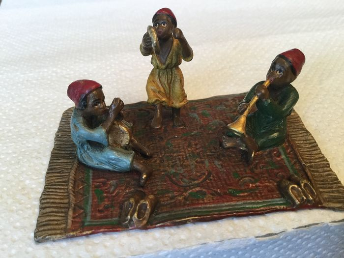 Sculpture, Bronze of Vienna - The 3 musicians - Bronze (cold painted) - Early 20th century