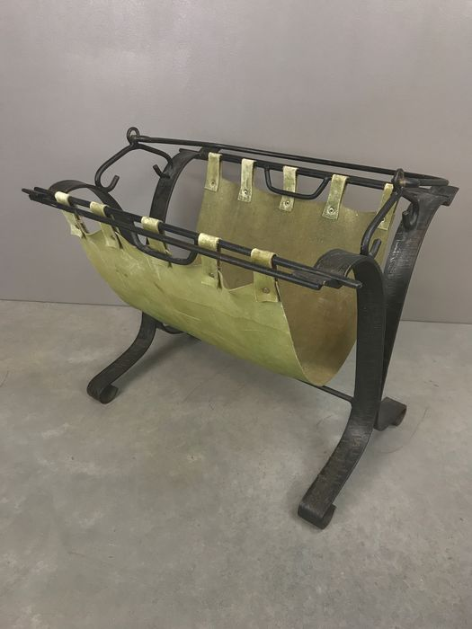 Vintage wrought iron reading box in Gothic style - Wrought iron / Leather