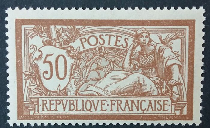 Frankrijk 1900 - Merson 50 centimes brown and grey - Yvert 120