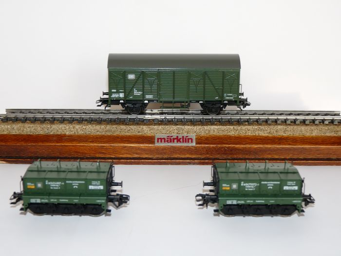 Märklin H0 - 48690 - Freight wagon set - Three-part calibration trolley set for calibrating weighing points - DB