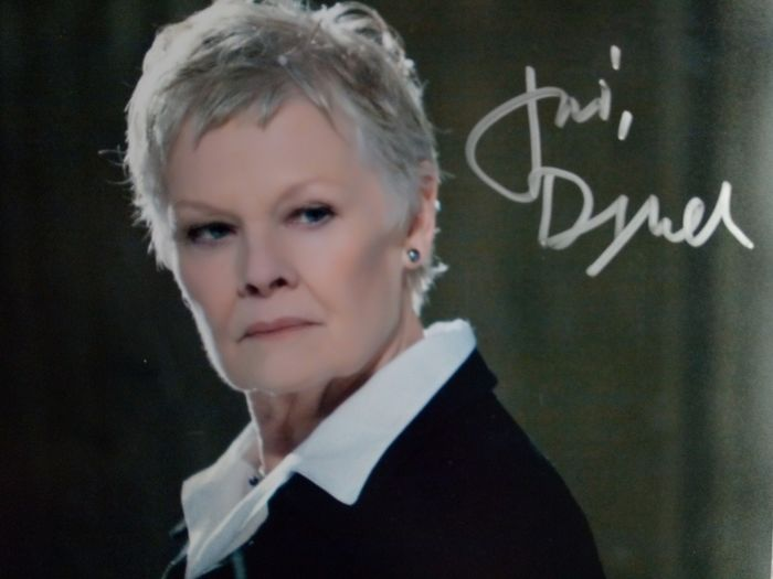 James Bond - 007 - Judi Dench is 'M' - signed & COA from b'bc - Autograph