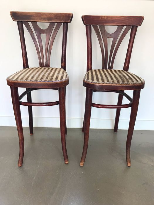 Thonet - set of high chairs - wood, dust