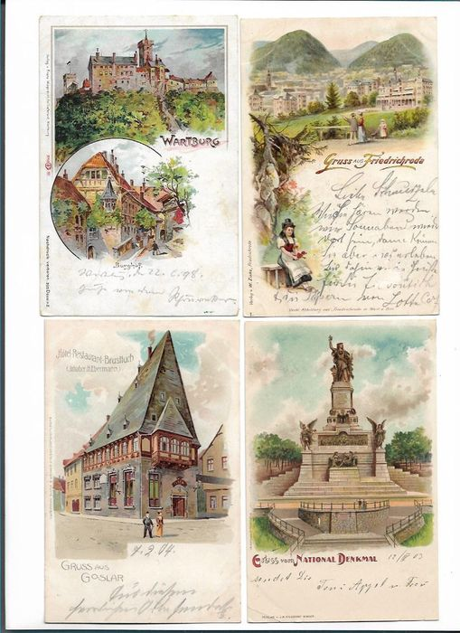 Germany - City & Landscape - Postcards (Collection of 115) - 1897-1897
