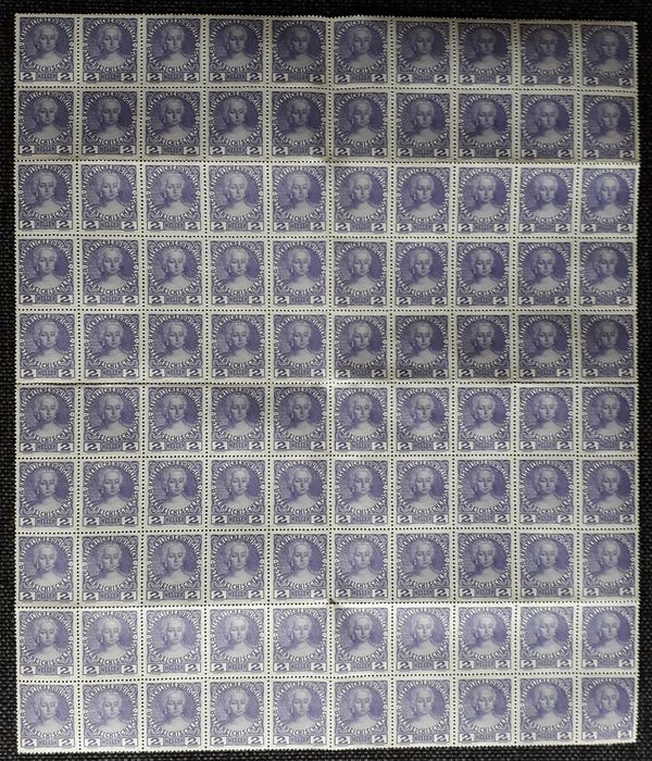 Austria 1913/1925 - Extensive lot with sheet and sheet parts