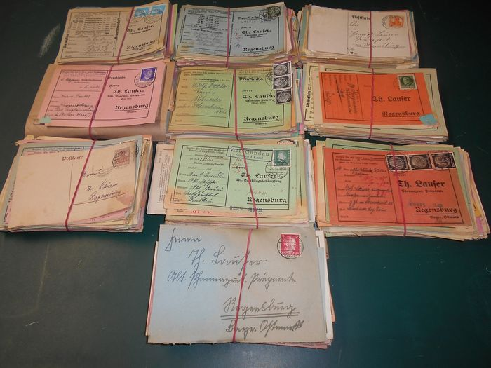 German Empire - Lot with 1,000 postcards, many with advertising, promotion, order forms