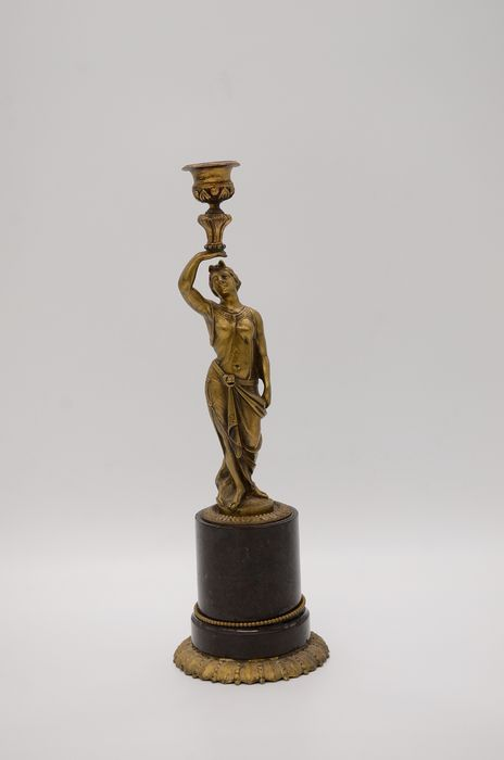 Candlestick - Bronze - Late 19th century