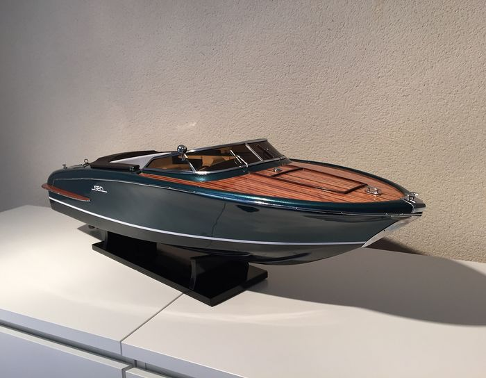 Scale boat model, Monte-carlo Iseo 67cm - Hout, Mahonie - 2018