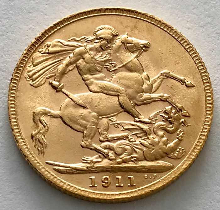 Royaume-Uni - Sovereign 1911 - George V. - Or