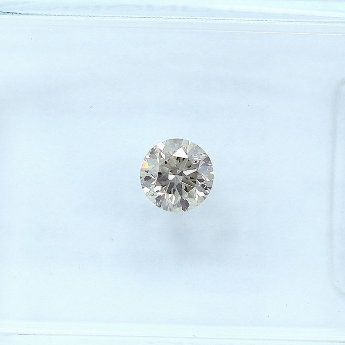 Diamant - 0.24 ct - Brillant - Very Light Yellowish Gray - VS2 - NO RESERVE PRICE