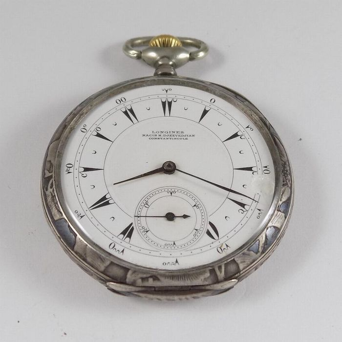 Longines - Constantinople Ottoman - Silver - NO RESERVE PRICE  - Cal. 18.69N - Men - 1910