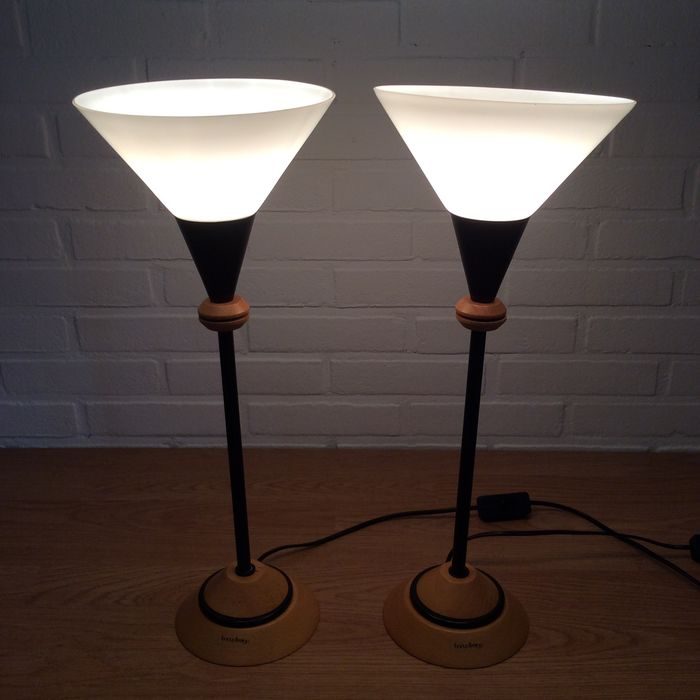 Bony Design - Table / Bed Lamps - Metal - Wood - Glass