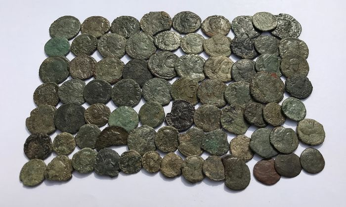 Roman Empire - Lot comprising 75 AE coins,  2nd - 4th century AD