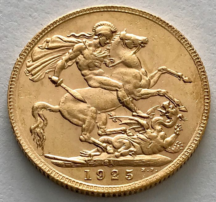 South Africa - Sovereign 1925 SA - George V. - Gold