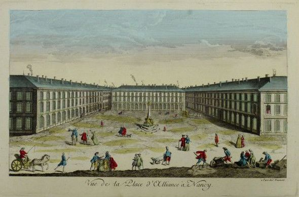 Frankrijk, Nancy; Daumont - Vue de la Place d´Alliance a Nancy - 1781-1800