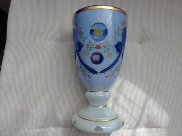 Foot mug Biedermeier Bohemia 16 cm 585 grams solid - Glass