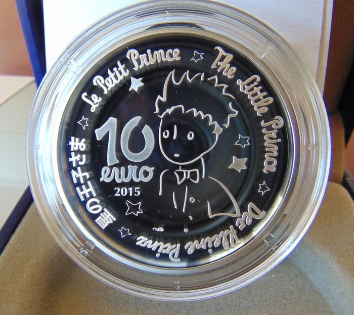 France - 10 Euro - 2015 'Saint Exupéry Little Prince' - What is essential is invisible to the eyes RARE - Silver
