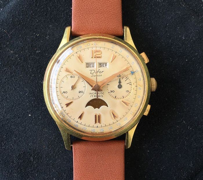 Difor - Chronograph - Moonphase - Hombre - 1960-1969